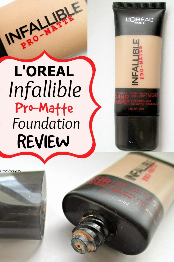 l oreal infallible foundation matte review