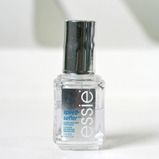essie speed setter top coat review