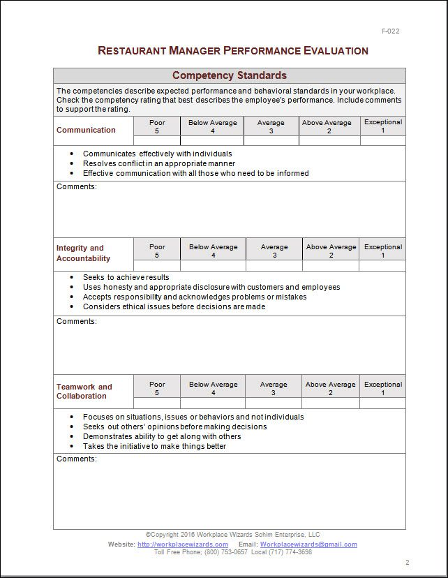 employee review questions for managers