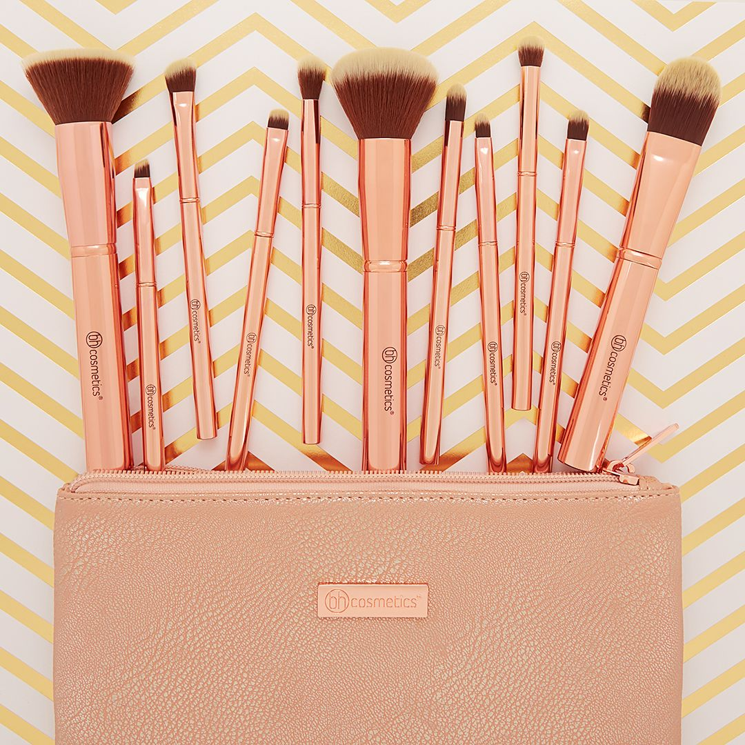bh cosmetics metal rose brush set review