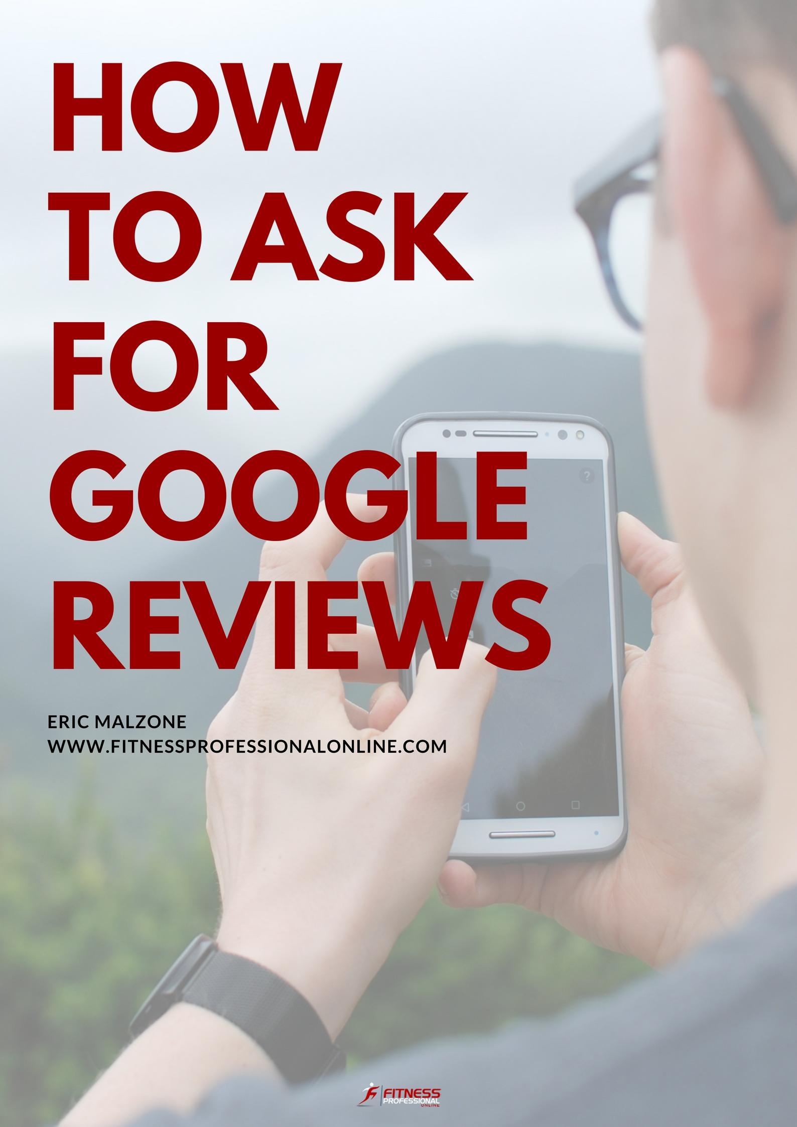 how to ask for reviews on google