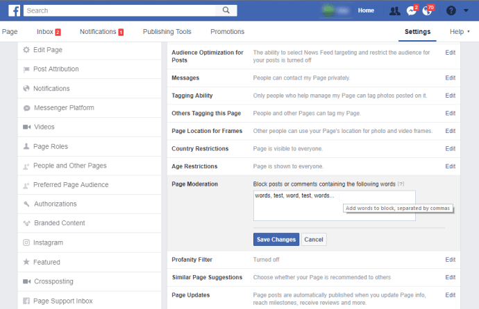 how to turn off reviews on facebook business page